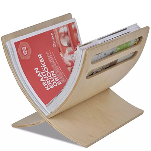ACCEWIT Zeitschriftenhalter Holz Natur