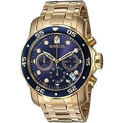 Invicta 0073 - Reloj de cuarzo para hombres, color dorado