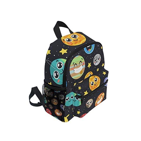 51KT7VK1MAL. SS600  - CPYang Mochila para niños con sistema solar Planet Emoji School Bag Kindergarten Preescolar Mochila para niños y niñas