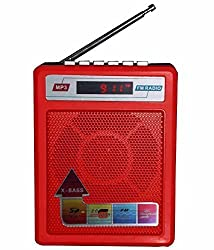 Sonilex portable rechargeable SL-413/414FM player with USB,SD card slot -Red