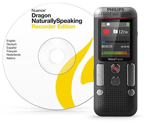 Preisvergleich Produktbild Philips DVT2710 Digitales Diktiergerät inkl. Spracherkennungs-Software f. Windows, kompaktes Aufnahmegerät, mp3 Recorder, Farbdisplay, 8 GB Speicher, USB-Anschluss, Plug & Play, Anthrazit