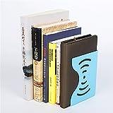 Kreatives teleskopisches Datei-Regal-Student Bookshelf Scalable Book steht Metallbuch-Klipps/Dokumentenregal, passend für Büro/Schule/Studie/Haus, blau