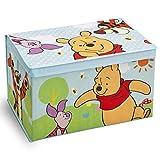 Spielzeugbox - Spielzeugkiste - Aufbewahrungskiste - Stoffbox mit großen Stauraum (Winnie the Pooh)
