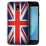 Coque Gel TPU de STUFF4 / Coque pour Samsung Galaxy J5 2017/J530 / Royaume-Uni/Britannique Design / Drapeau Collection