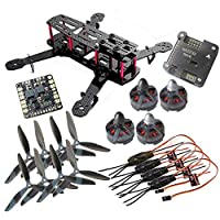powerday®DIY QAV250 ZMR250 Quadcopter Full Carbon Frame Kit &Tarot MT2204? 2300KV Motor &Simonk 12A ESC &NAZE32 6DOF Flight Controller &6045(CW+CCW) 3-blade Propeller from Rcmodelpart