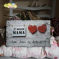 Shabby Style Holzschild - Beste Mama ~ Herzen ~ Weihnachten ~ Geschenk