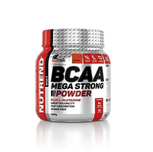 Nutrend BCAA MEGA PLUS STRONG POWDER L-glutamin 300g Orangengeschmack Aminosäuren L-Leucin, L-Isoleucin und L-Valin-4: 1: 1-Verhältnis