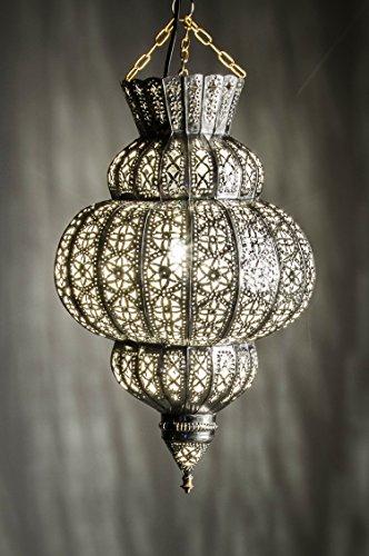 orientalische lampe pendelleuchte silber harem 50cm e27 lampenfassung marokkanische design On orient lampe silber