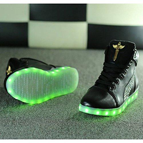[+Kleines Handtuch]Die neuen LED-Lampe leuchtet Schuhe Schuhe koreanischen Männer und Frauen Schuhe USB-Lade Licht emittierende Leucht sieb c27