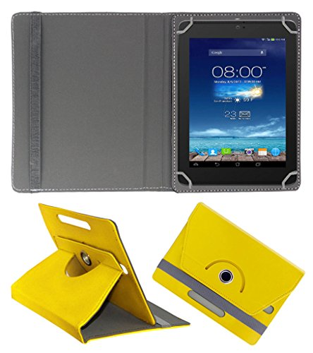 Acm Rotating 360° Leather Flip Case For Digiflip Pro Xt801 Tablet Cover Stand Yellow  available at amazon for Rs.159