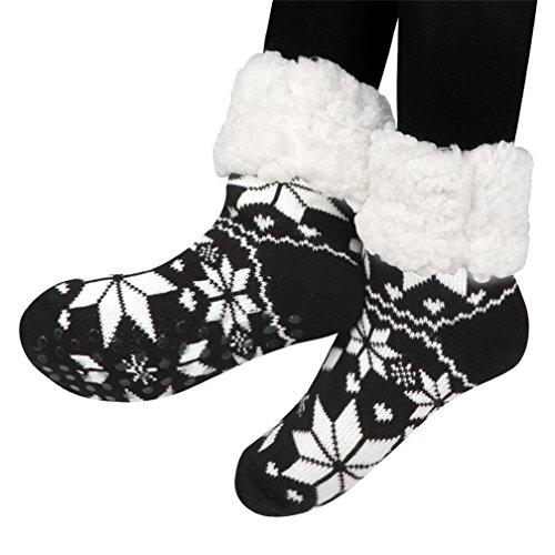 Kfnire calze a pantofola donna antiscivolo, Fodera in pile non morbida super morbida da donna Fodera...