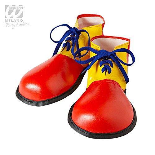 Widmann wdm9146p–Kostüm für Erwachsene Schuhe Clown Größe Erwachsene, -