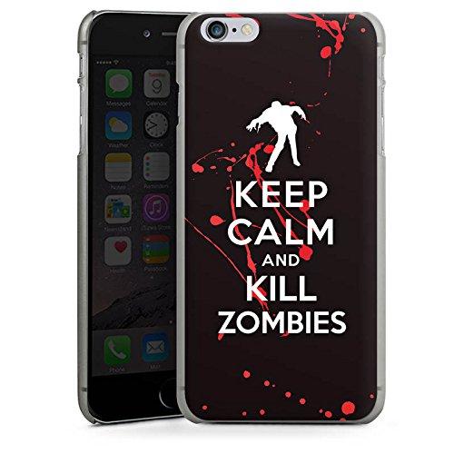 Apple iPhone X Silikon Hülle Case Schutzhülle Keep Calm Zombies Blut Hard Case anthrazit-klar