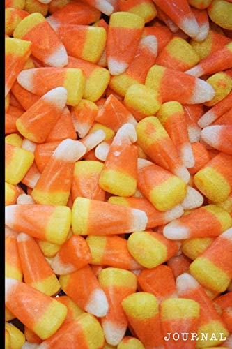 Journal: Halloween Candy Corn   128 College Ruled Pages: 6 x 9 in Blank Lined Journal with Soft Matte Cover   Notebook, Diary, Composition Notebook ... school, students, homeschool and teachers