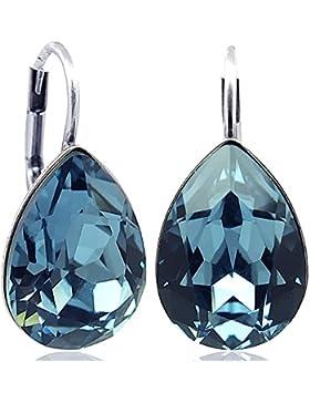 Ohrringe mit Kristallen von Swarovski® Silber oder Gold Viele Farben - NOBEL SCHMUCK