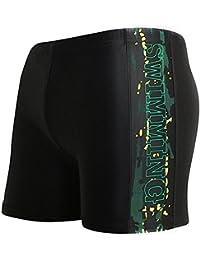 Demarkt Pour Hommes Boxers Slip, Plage/Sport/Natation Costume For Hommes De Haute Qualité Boxers Slip Noir1 L+1PC