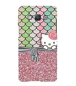Fuson Designer Phone Back Case Cover Samsung Galaxy A3 (2015) :: Samsung Galaxy A3 Duos (2015) :: Samsung Galaxy A3 A300F A300Fu A300F/Ds A300G/Ds A300H/Ds A300M/Ds ( Live Happy With Kitty )