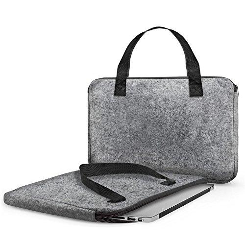 eFabrik Filztasche für Lenovo Yoga 2 Pro Sleeve Laptop Case 13.3 Zoll Cover Schutztasche Schutztasche Filz grau