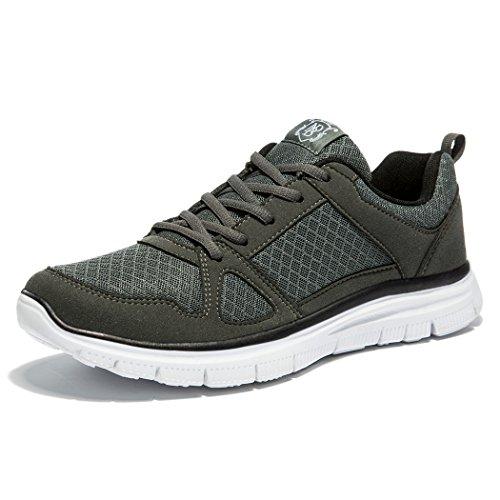 NDB Herren Leichtes Sportschuhe Laufschuh Trainingsschuhe (45 EU, Dunkelgrau (Dark Grey))