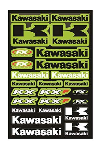 KIT STICKERS FOX ADESIVI KAWASAKI KX KXF SPONSOR MOTO COMPATIBILE PER HONDA CROSS ENDURO CASCO(40)