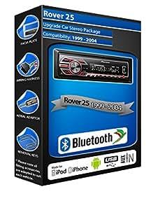 Rover 25 mechless car radio Pioneer MVH 350BT Bluetooth Handsfree kit