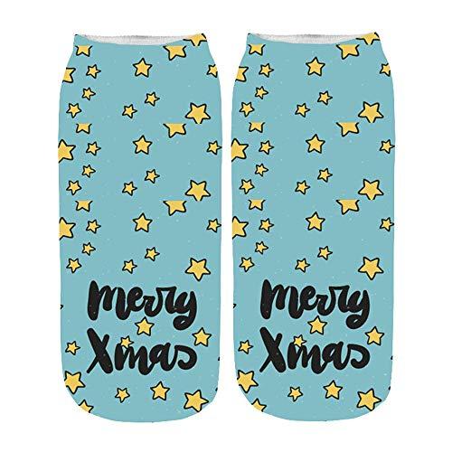 HCFKJ  Socken, Frauen 3D Cartoon Funny Christmas Crazy Cute Erstaunliche Neuheit Print Söckchen (I)