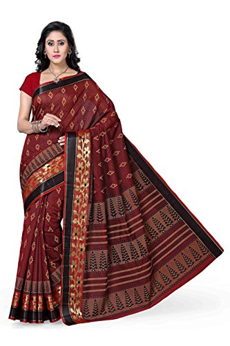 Rani Saahiba Poly Cotton Saree (Skr1101_Red)