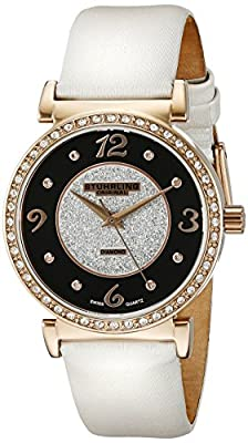 Stuhrling Original Women's Quartz Watch with Multicolour Dial Analogue Display and White Leather Strap 711.03