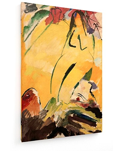 Wassily Kandinsky - Nudo - Pittura 1911 - 50x75 cm - weewado - Belle stampe d'arte tela - arte della parete - Vecchi Maestri