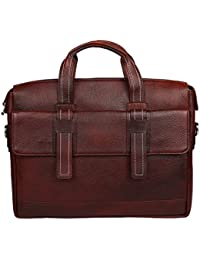 Sahil Leather Brown Leather Laptop Bag