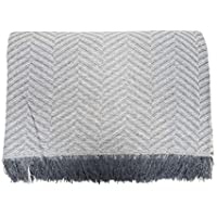 ADP Home - Plaid/Colcha Multiusos Zigzag Ideal para Cama o Sofá (Medida: 230x260 cm), Gris Claro