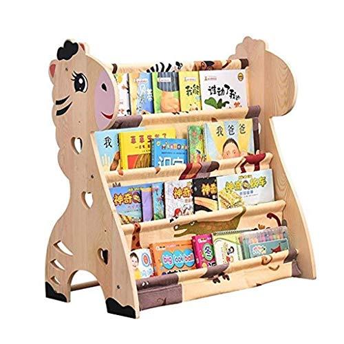 Estante para niños Dibujos animados Soporte de piso de madera maciza Jardín...