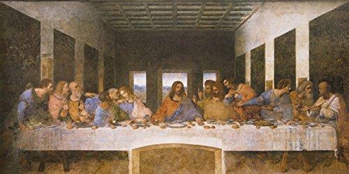1art1 88369 Leonardo Da Vinci - Das Letzte Abendmahl, 1494–1499 Fototapete Poster-Tapete 240 x 120...