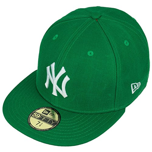 New Era Erwachsene Baseball Cap Mütze Mlb Basic NY Yankees 59Fifty Fitted Green