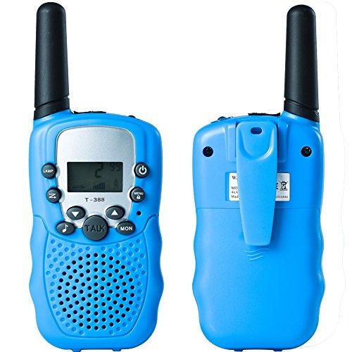 Preisvergleich Produktbild Uping PMR Funkgerät Sprechfunkgerät Walkie Talkie mit LC-Display 2er Set 8 Kanäle Reichweite bis zu 2km (blau)