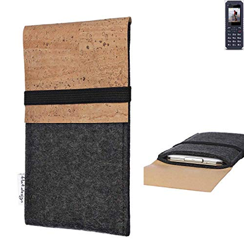 flat.design Handy Hülle SAGRES für bea-fon AL250 Made in Germany Handytasche Filz Tasche Schutz Case fair Kork