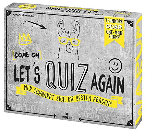 Moses 90136 (Come on Let's Quiz Again   Wer schnappt Sich die besten Fragen   Quizspiel ab 12 Jahren, Mehrfarbig