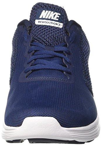 Nike Revolution 3, Chaussures de sport homme Bleu (Midnight Navy/white/obsidian)