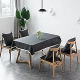 LIAN Tischdecke Tischtuch Retro Mehrzweck Tischdecke Rutschfest Reine Farbe Spitze Polyester Mehrzweck Tischdecke Familie Esstisch Küche (110 X 160 cm) (Farbe : Dunkelgrau, Größe : 130 * 170cm)