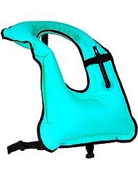 Chaleco de esnórquel Rrtizan, para hombre o mujer, inflable, para buceo, natación y seguridad