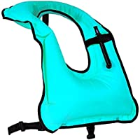 Rrtizan Men/Women Snorkel Vest Adult Inflatable Snorkeling Jacket for Diving