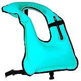 Rrtizan, gilet di sicurezza con boccaglio per adulti, per uomini/donne, gonfiabile, per snorkeling, immersioni, nuoto