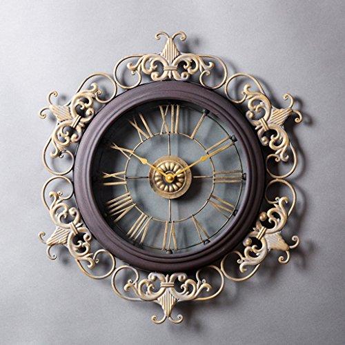 COCO Europa amerikanischen Stil Uhren und Uhren Wanduhr Wohnzimmer große kreative Uhren und Uhren Wand Retro Wanduhr Uhr Taschenuhr HOME