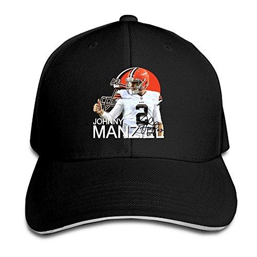 Huseki MayDay Johnny 2# Manziel Cleveland Brown Unisex Sandwich Hat Black Black