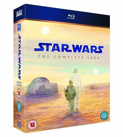Star Wars: The Complete Saga (9 Blu-Ray) [Edizione: Regno Unito] [Import anglais]