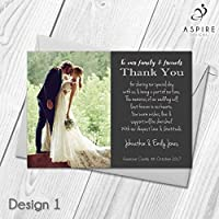 Wedding Thank You Cards | Personalised with Photo | Thank Guests for Attending