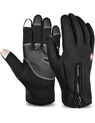 Vbiger TouchscreenHandschuhe Sport Handschuhe Fahrradhandschuhe Handy Handschuhe Motorrad Handschuhe mit Fleecefutter für Winter