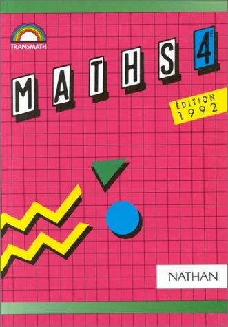 Maths 4e, édition 1992