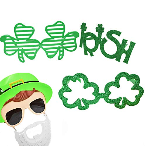 prevently Irish Green Festival Party Brille, St. Patrick's Day Shamrock Brille, Neuheit Lustige Brillen ()