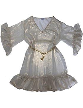 Xarismania tunica camicetta donna bicolore bianco-oro, tg.44-46